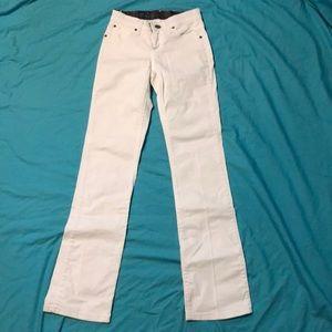 White strait leg jeans